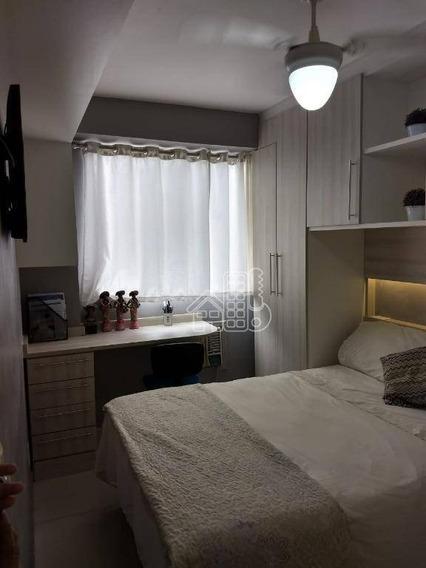 Apartamento Com 2 Dormitórios À Venda, 52 M² Por R$ 330.000,00 - Barreto - Niterói/rj - Ap3419