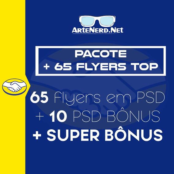 Pacote Top 65 Flyer Psd Photoshop Editavel Festas Bandas