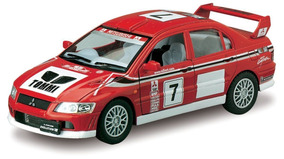 Carrinho Mitsubishi Lancer Evolution Vii Vermelho - Ferro