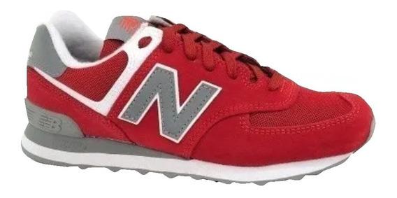 Zapatillas New Balance 574 Unisex - Rojo