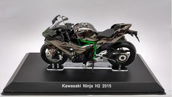 Miniatura Moto Kawasaki Ninja H2 (2015) 1/18