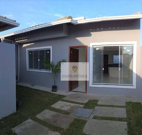 Casas Lineares Com Quintal Independente, Ouro Verde/ Rio Das Ostras! - Ca1280
