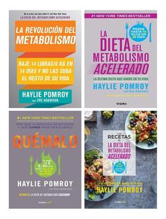 Pack Dieta Del Metabolismo Acelerado 4 Libros Haylie Pomroy