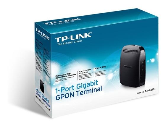 Terminal Gpon Fibra Óptica A Gigalan Tp Link Tx 6610 Hd Voip