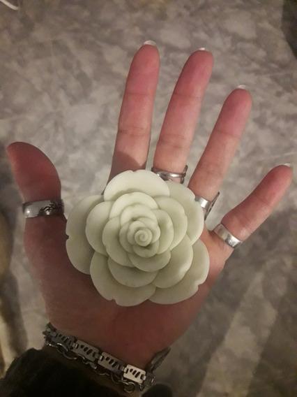Molde Silicona Flor Rosa 7,5 Cm Para Artistica: Vela, Jabon