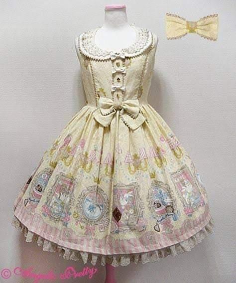 Vestido Lolita Original Angelic Pretty + Acessórios