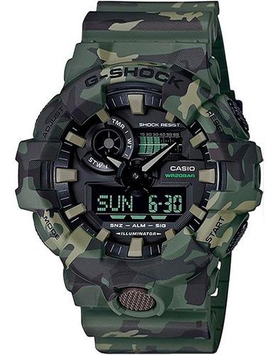 Relógio Casio G-shock Camuflado Ga-700cm-3adr Original +nfe