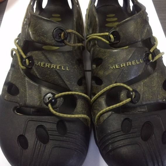 Zapatos Unisex Merrell Original T/37 Usados Verde T/virtual