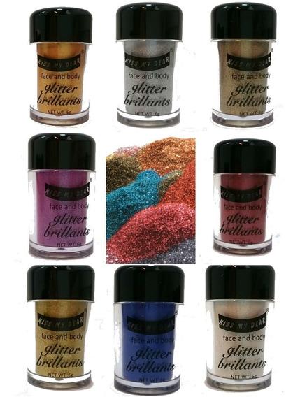 Glitter Gibre Purpurina 11 Colores Ojos Cuerpo Cara Uñas