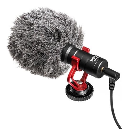 Microfone Boya By-mm1 Direcional Canon Nikon Smartphone Loja