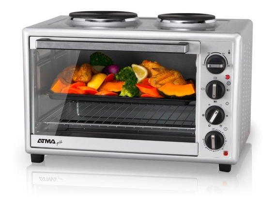 Horno Electrico Atma Hg-5010an 2 Anafes C/grill 1600w 12cts