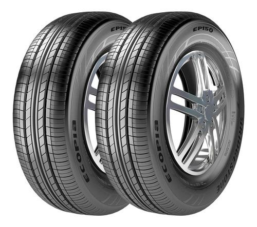 Imagem 1 de 5 de Kit 2 Pneus Bridgestone Aro 15 Ecopia Ep150 185/60r15 84h