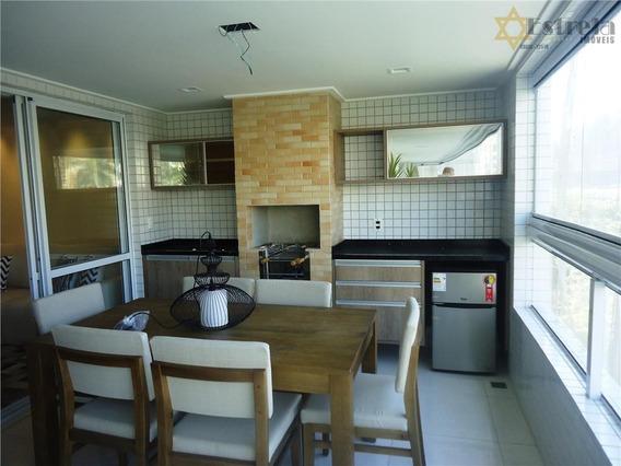 Apartamento Com 3 Dormitórios À Venda, 136 M² Por R$ 799.000 - Centro - São Vicente/sp - Ap2872