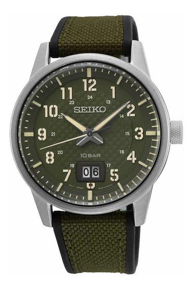 Relógio Seiko Militar Quartz Referência Sur323b1 E2ex