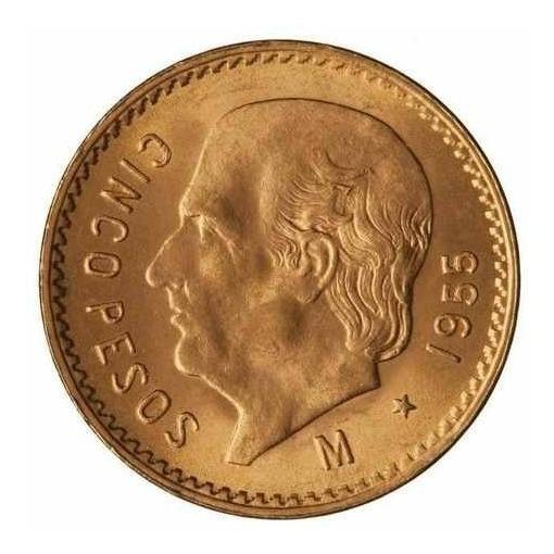 $5 Pesos De Oro Fam Centenario Moneda 22k