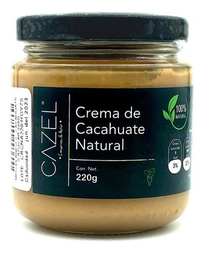 Imagen 1 de 6 de Crema De Cacahuate Oaxaqueño Sin Azúcar 100% Natural 220g