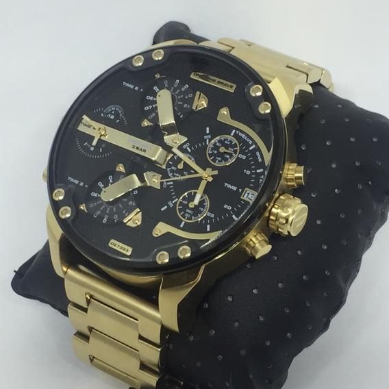 Relógio Diesel Dz7333 Dourado 18k Aço Inox - Mr. Daddy 2.0