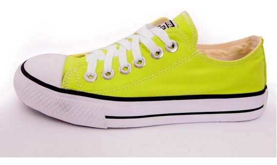 Tênis Converse All Star Ct Cano Baixo Verde Neon Fluorescente