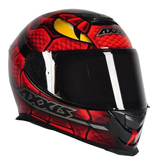 Capacete Axxis Eagle Snake Vermelho/amarelo Rs1