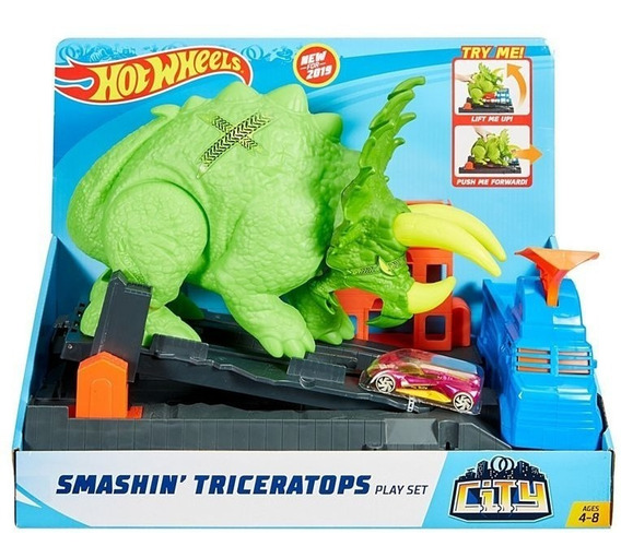 Pista Hot Wheels - Ataque De Triceratops Gbf97 - Mattel