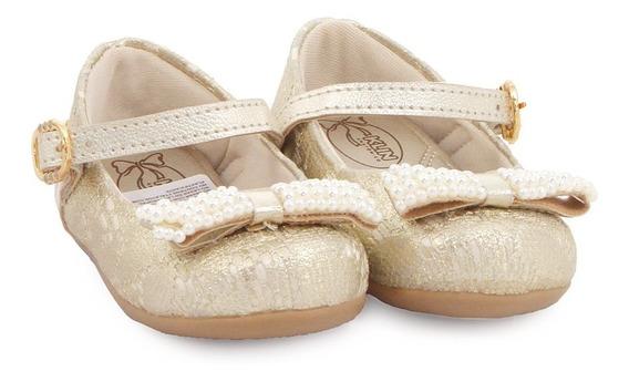 Calzado Ballerina Niña Klin Cuero Ecologico Hebilla 125054