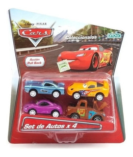 Cars Set De Autos Pull Back 4 Ditoys Full