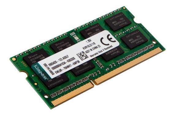 Memória Kingston 8gb 1600 Mhz Ddr3l Notebook Kvr16ls11/8