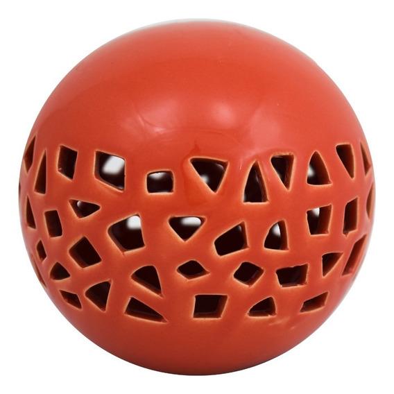 Esfera Calada Naranja 10.5x10x10 55448