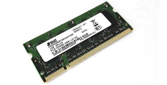 Memória Ddr2 1gb Pc2-6400s-66-12-a3 Notebook Smart
