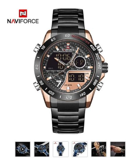 Relógio Naviforce 9171 Militar Esportivo Original Top 2020
