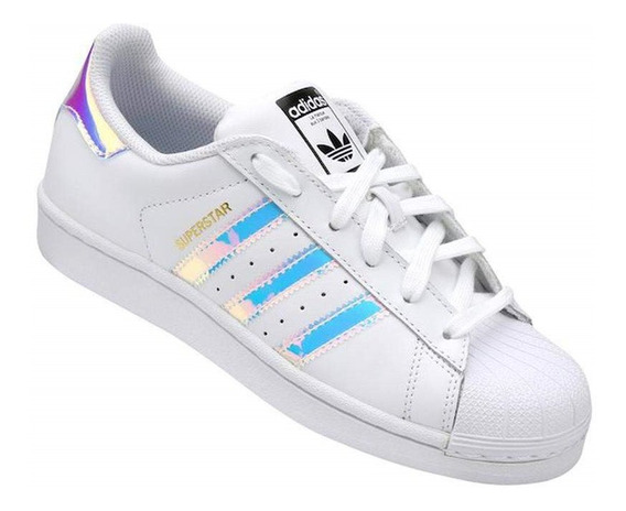 Tênis adidas Superstar Foundation Holográfico Original