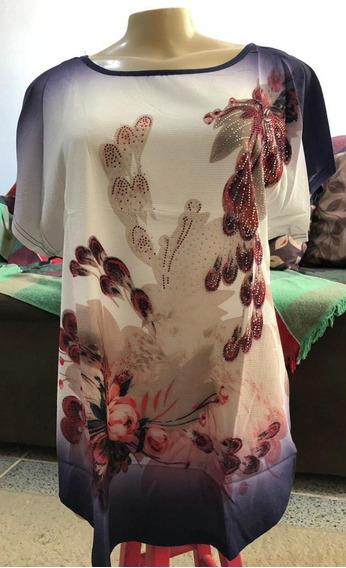 Blusa J Dress Estampada