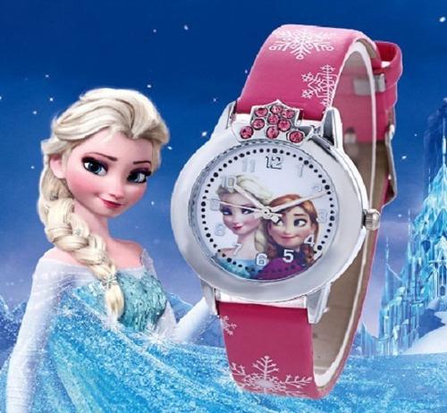Relógio Frozen + Pulseira Meninas Novo Barato