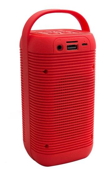 Caixa Som Bluetooth 5w Plastico Vermelho - 2 Peças