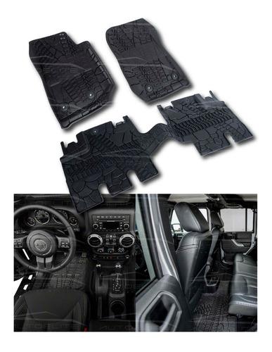 Imagen 1 de 8 de Set Tapetes 3d Jeep Jk Wrangler 4 Puertas Uso Rudo 15569