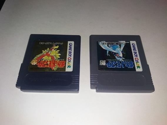 2 Jogos Pokemon Gold + Silver Originais Nintendo Game Boy