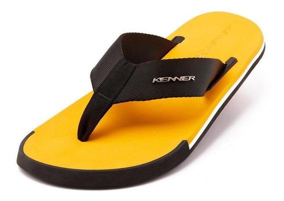 Sandália Kenner Kick.s Line Original Preto/amarelo