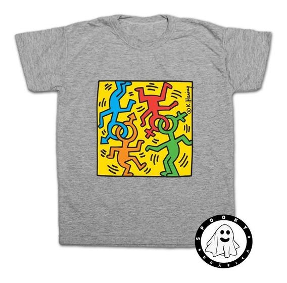 Remera Keith Haring Arte Varios Unisex Algodón