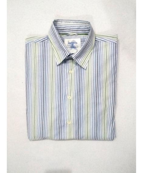 Camisa Express #m Rallada Zara Polo Gap Levi