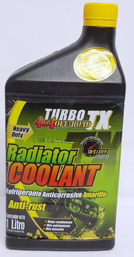 Refrigerante Anticorrosivo Amarillo Turbo Tienda Cod 110