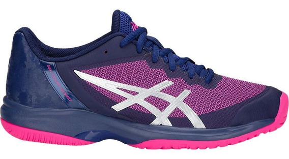 Tênis Asics Gel Court Speed Azul Rosa - Quadra Rápida