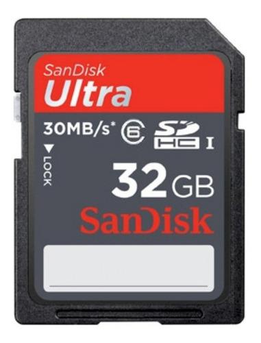 Imagem 1 de 3 de Cartão De Memória Sandisk Ultra 32gb Classe6 30mb/s Original