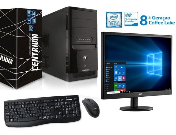 Computador I3 8100 + Monitor 18,5