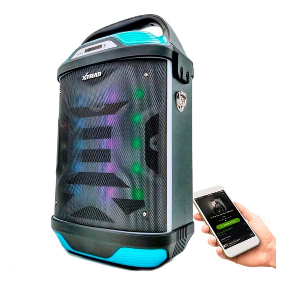 Caixa De Som Amplificada Bluetooth Microfone Fm Sd Karaoke