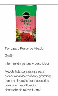 3pack Miracle-gro Tierra Sustrato Rosas Flor Jardin Envíogra