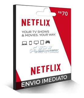 Cartão Assinatura Netflix R$ 70 Reais - Envio Na Hora !