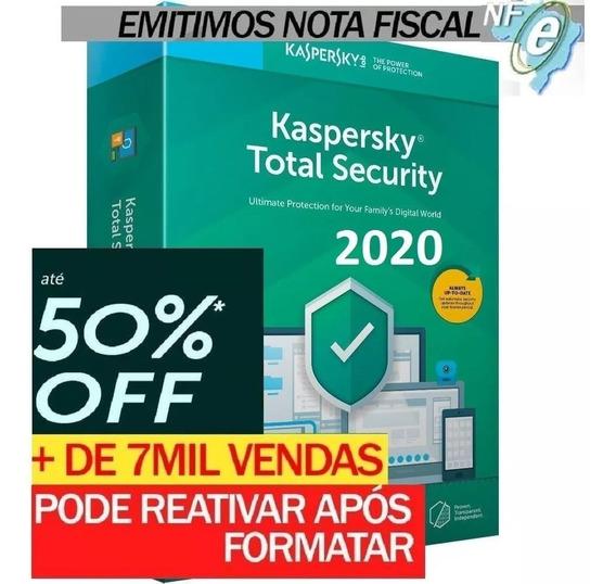 Kaspersky Total Security 1 Disp. 2 Anos Entrega Em 30min