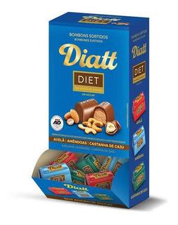 Bombom Diet Sortido Diatt Sem Açúcar Caixa 450g 30 Bombons