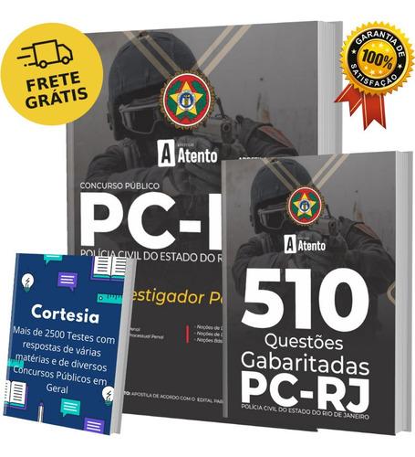 Kit Apostila Concurso Pc Rj - Investigador Policial + Testes