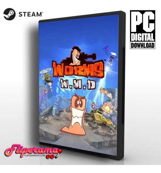 Worms W.m.d - Pc Steam Key Original